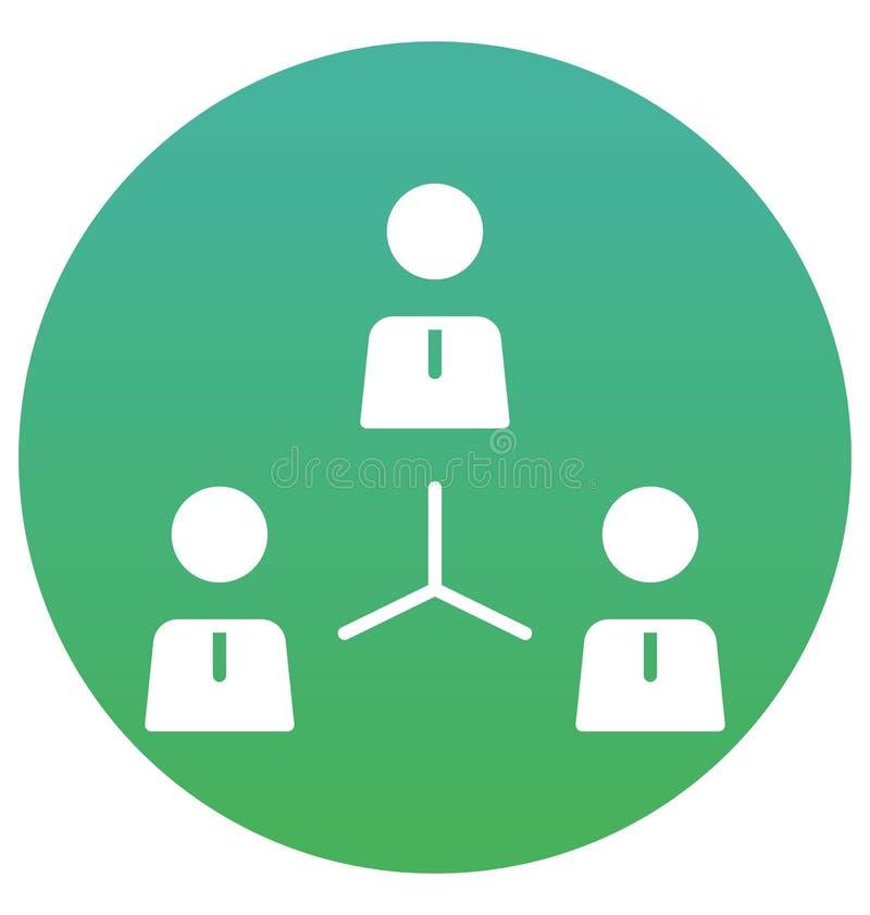 合作,企业队被隔绝的传染媒介象可以容易地是编辑并且修改 向量例证
