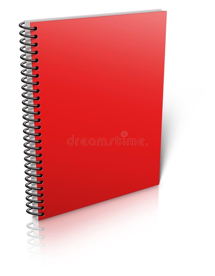 黏合剂笔记本螺旋白色 库存例证