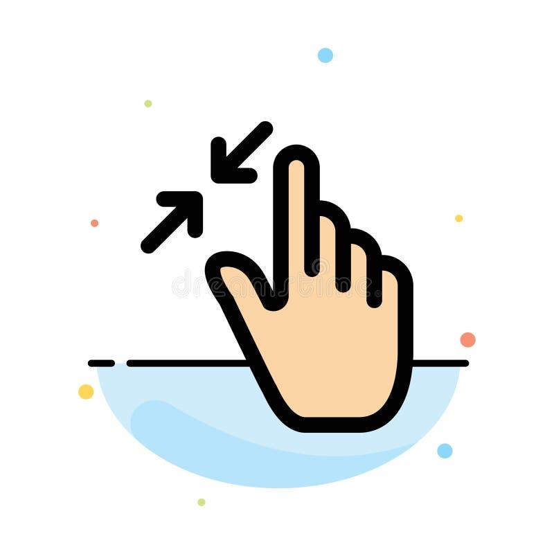 合同、手势、界面、夹点、触控摘要平面颜色图标模板 皇族释放例证