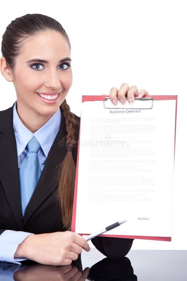 合同准备好签字 库存照片