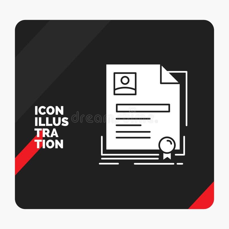 合同的,徽章,事务,协议,证明纵的沟纹象红色和黑创造性的介绍背景 向量例证
