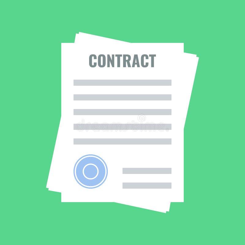 合同,平的设计 向量例证