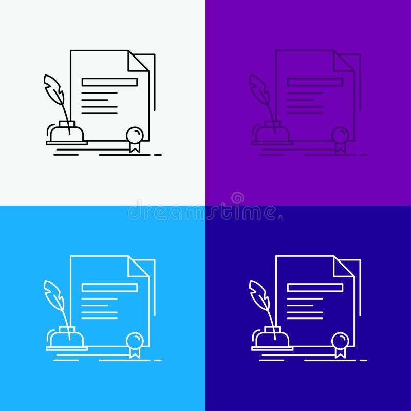 合同,纸,文件,协议,在各种各样的背景的奖象 r 10 eps 皇族释放例证