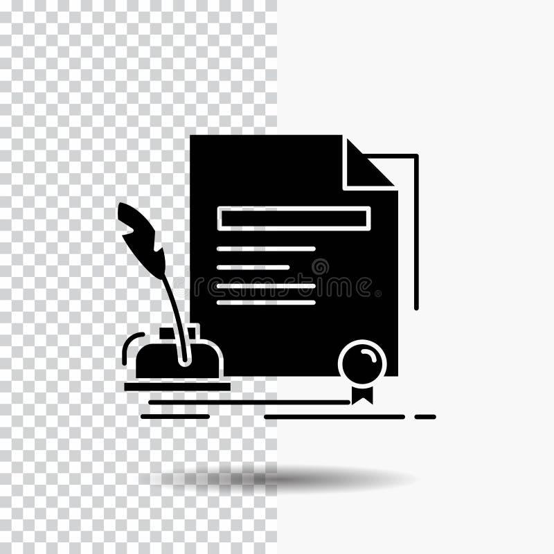合同,纸,文件,协议,奖在透明背景的纵的沟纹象 ?? 库存例证
