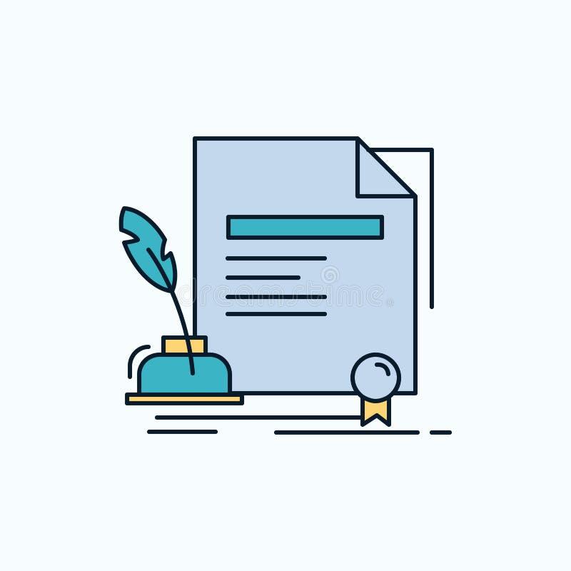 合同,纸,文件,协议,奖平的象 r ?? 向量例证