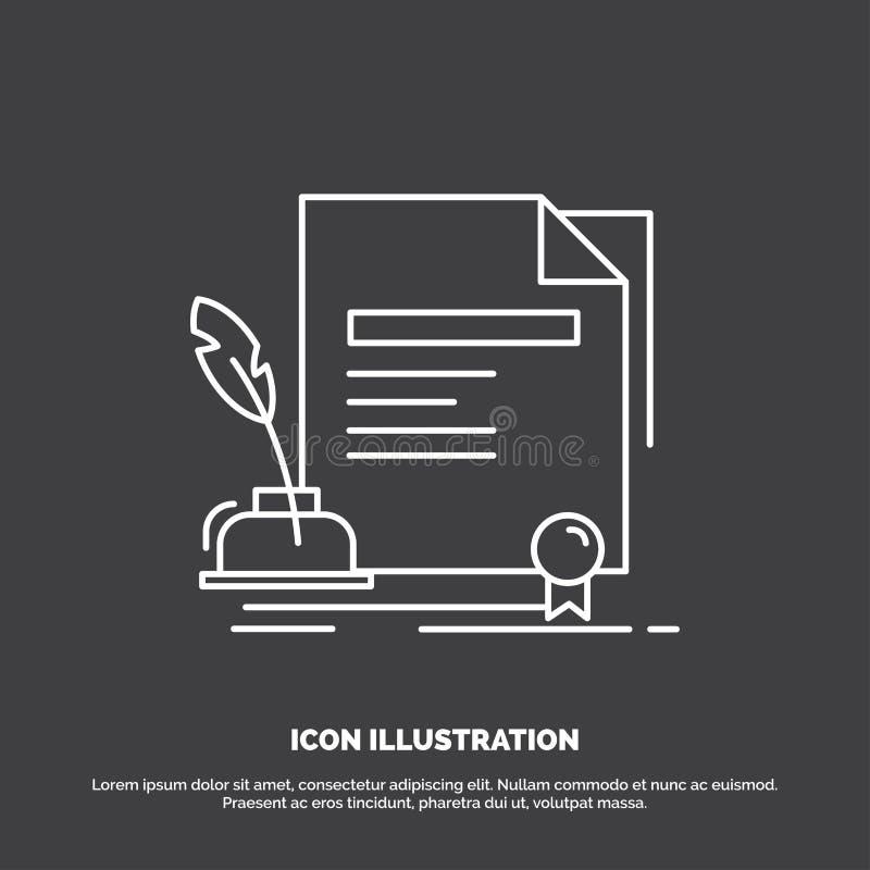 合同,纸,文件,协议,奖象 r 库存例证