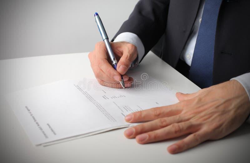 合同 免版税库存照片