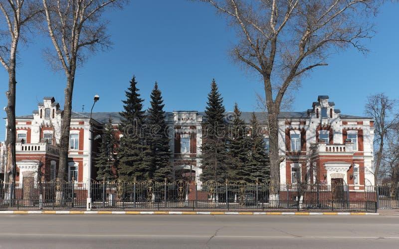 综合学校,莫斯科地区 库存图片