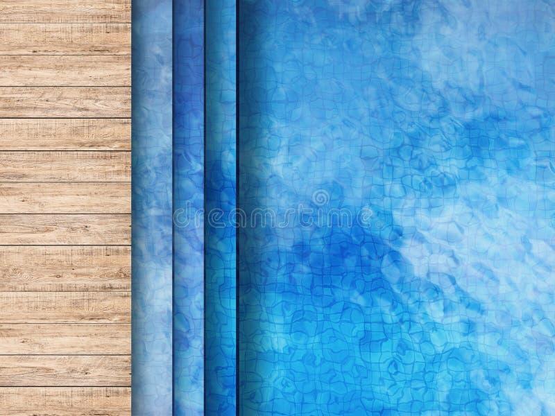 合并与木地板和梯子的顶视图 免版税图库摄影