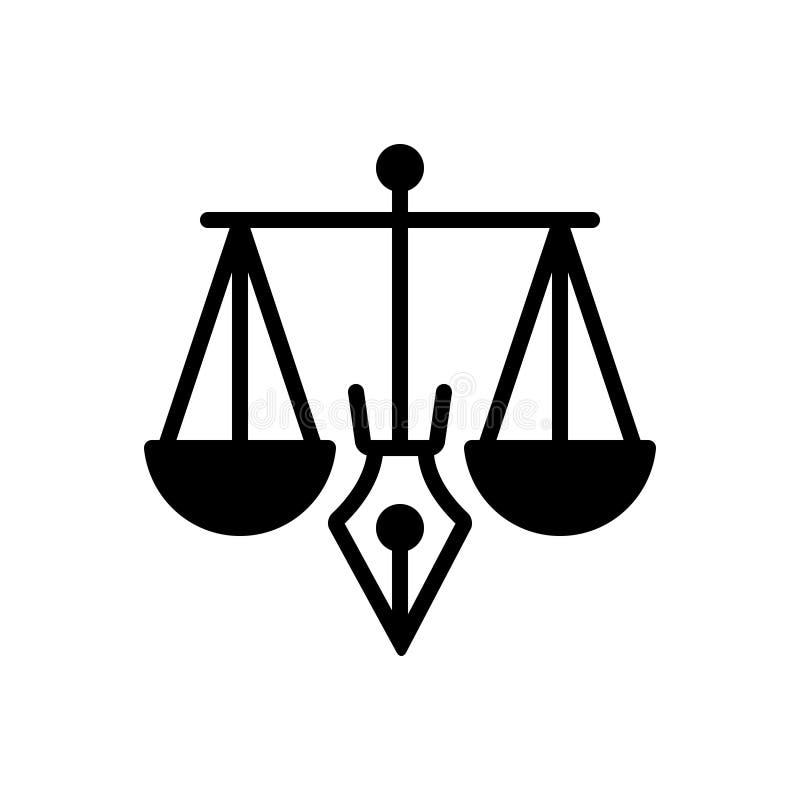 合法、合法和正义的黑坚实象 库存例证
