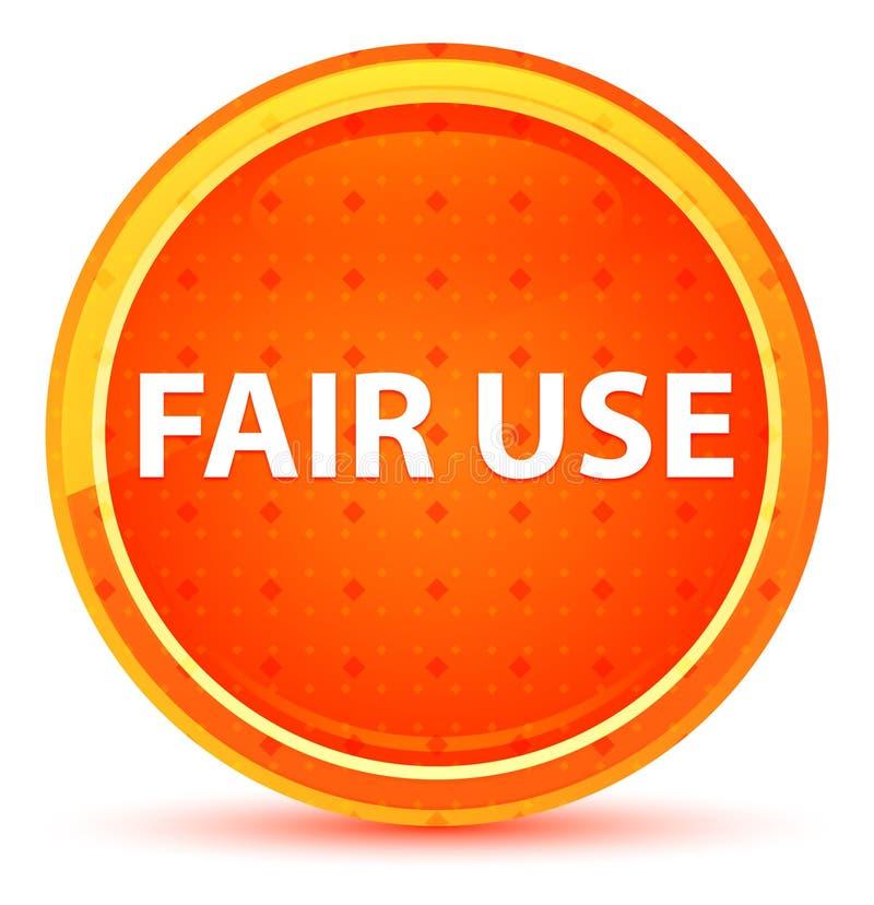 合法使用范围自然橙色圆的按钮 库存例证