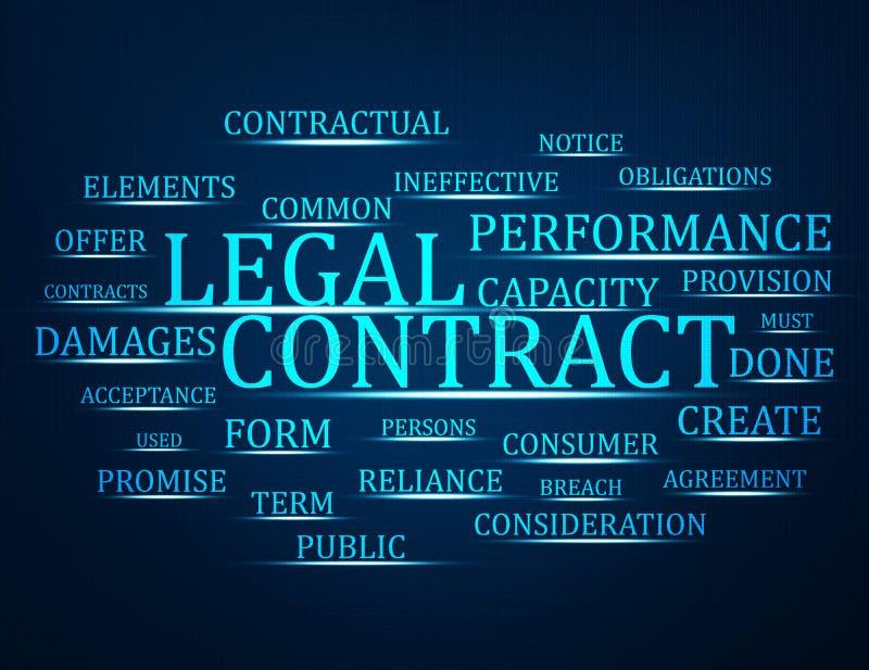 合法的合同 库存例证