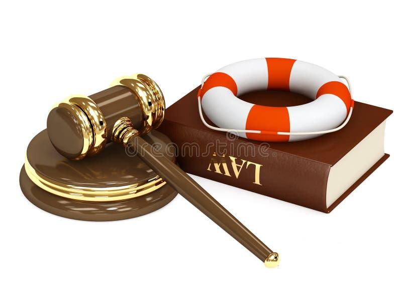 合法的帮助 皇族释放例证