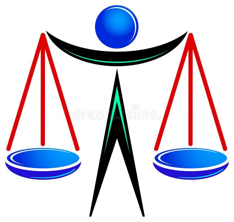 合法的徽标 库存例证