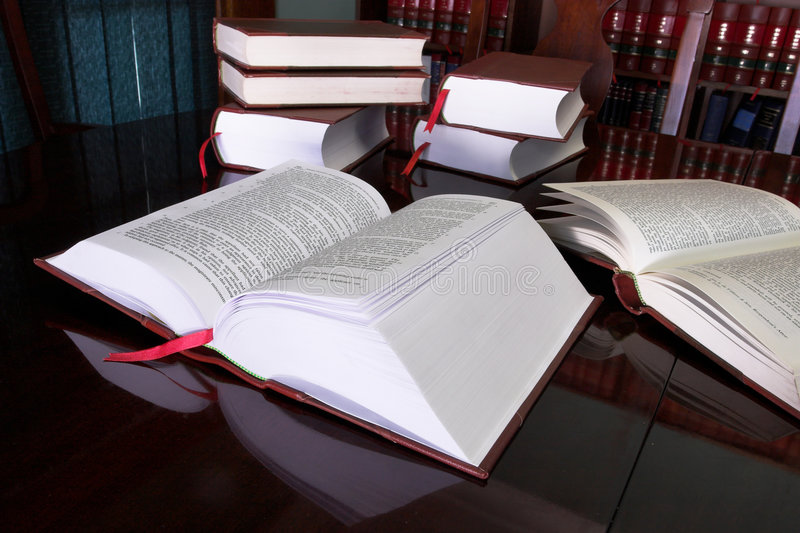 合法7本的书 库存图片
