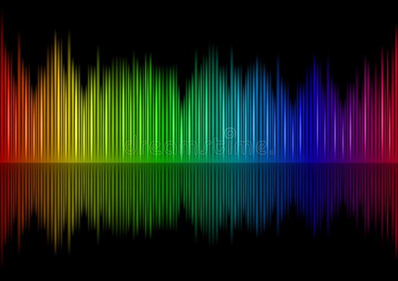合理的波形形式 库存例证
