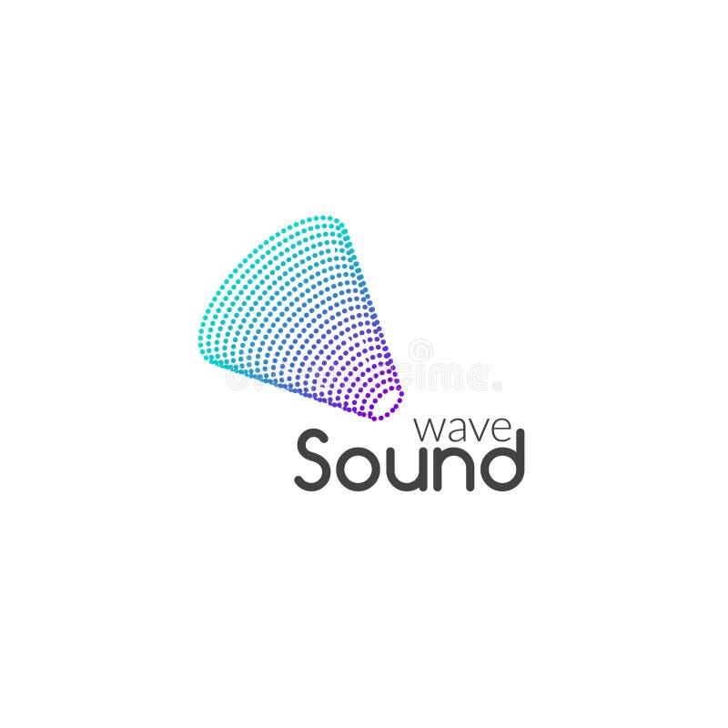合理的音频音乐波浪商标设计传染媒介 企业象标志 库存例证