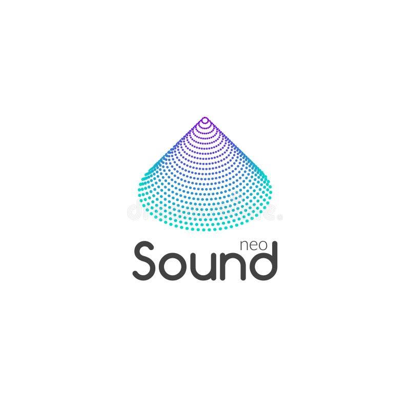 合理的音频音乐波浪商标设计传染媒介 企业象标志 向量例证