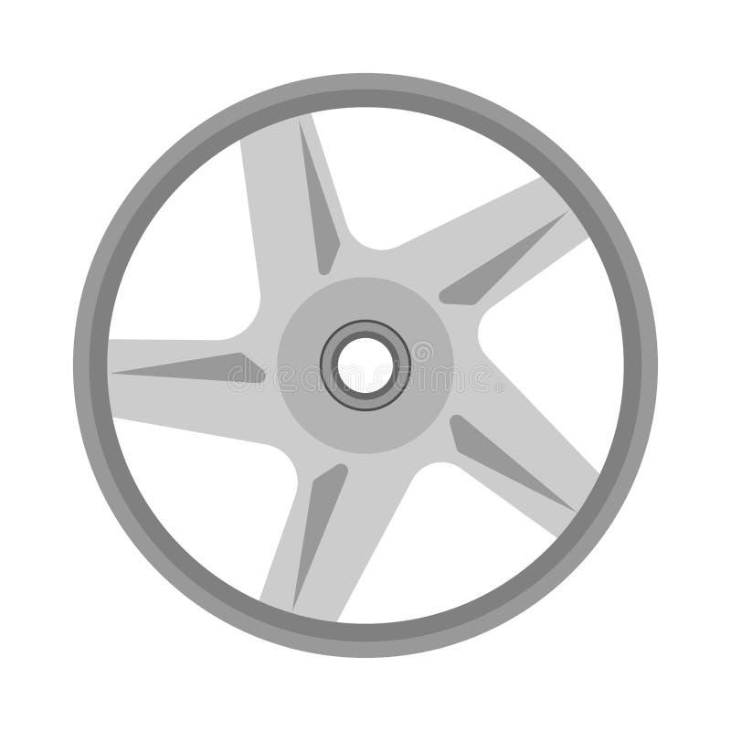 合金轮子正面图象引擎车库设备 Chrome汽车传染媒介服务隔绝了白色 库存例证