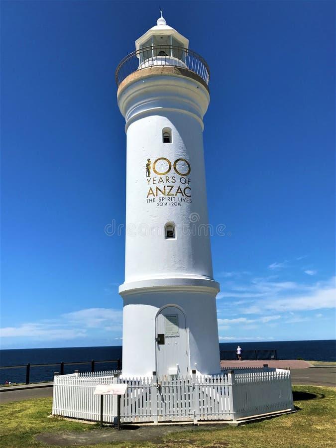 吉亚马灯塔在新南威尔斯澳大利亚 库存照片