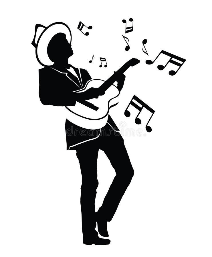 吉他人 向量例证