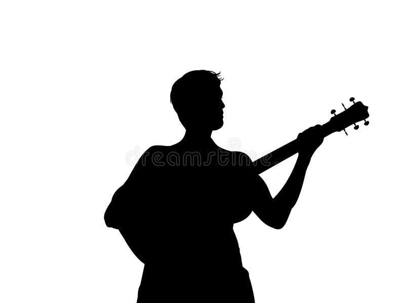 吉他人 皇族释放例证