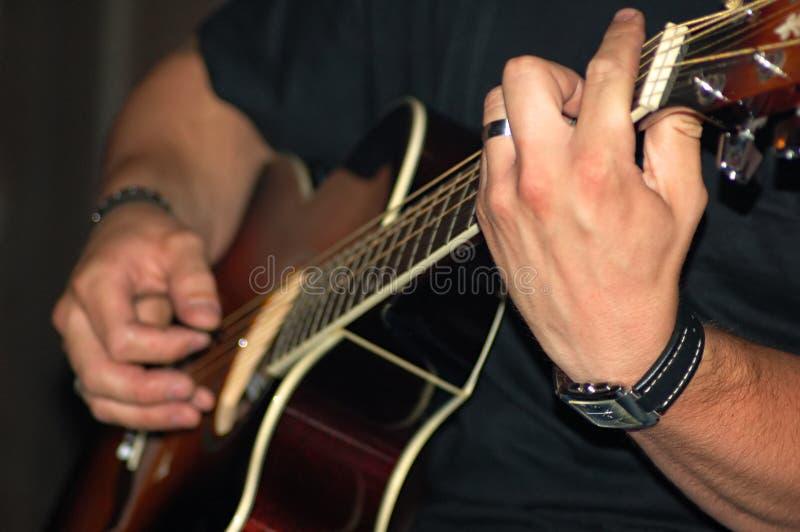 吉他使用 库存图片