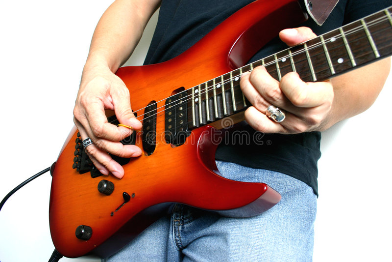 吉他使用 免版税库存图片