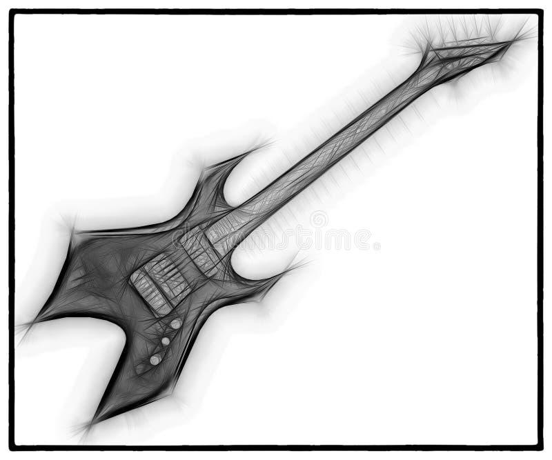 吉他分数维07 向量例证