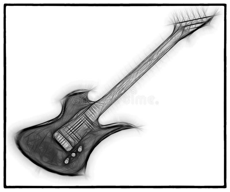 吉他分数维20 库存例证