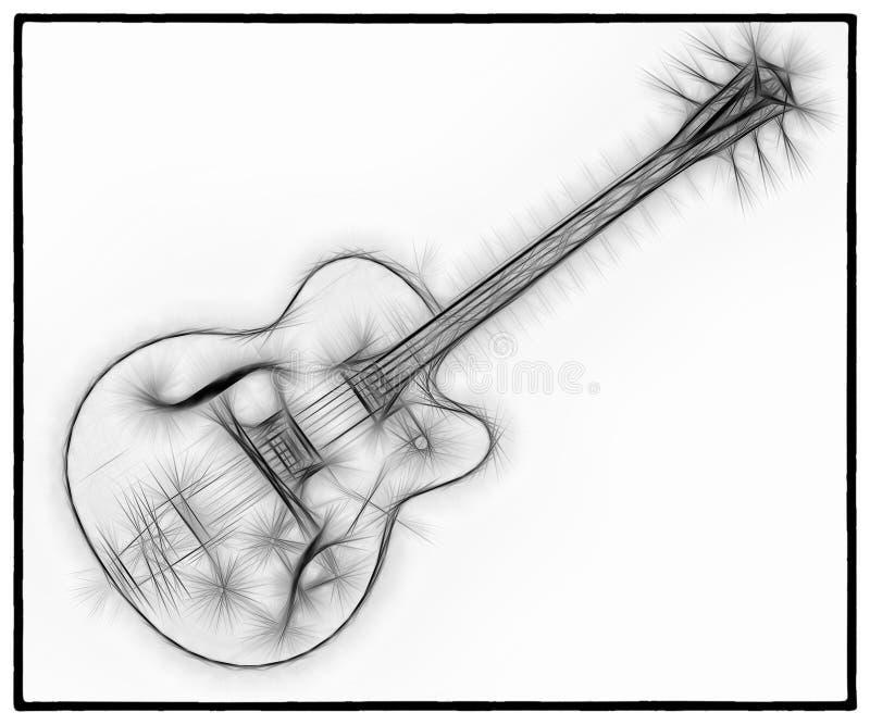 吉他分数维18 皇族释放例证