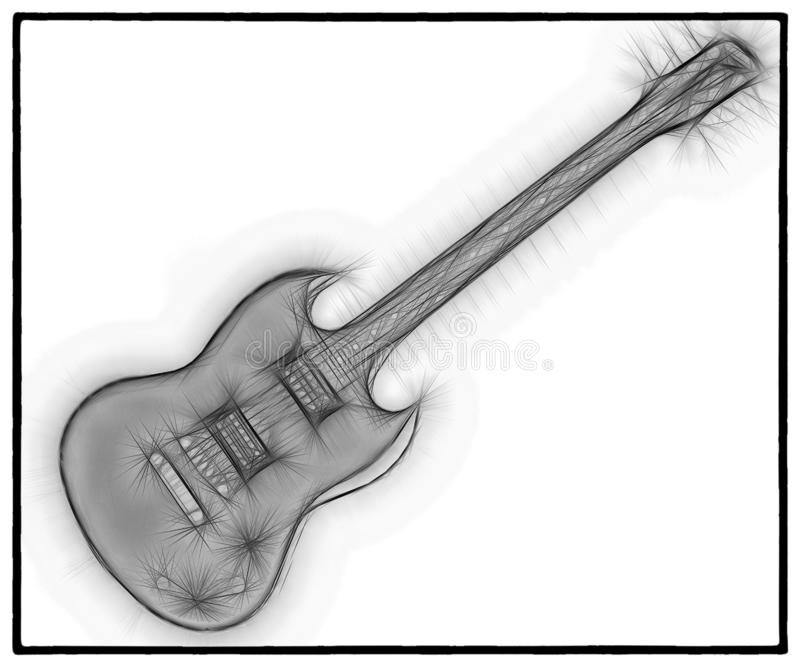 吉他分数维23 向量例证