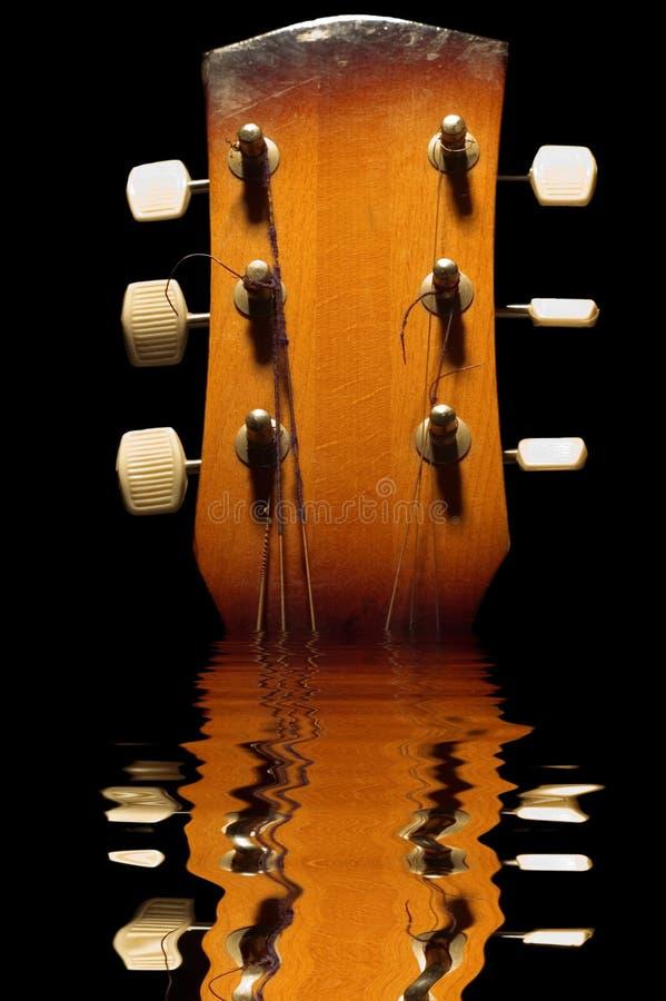 吉他反映 免版税库存照片