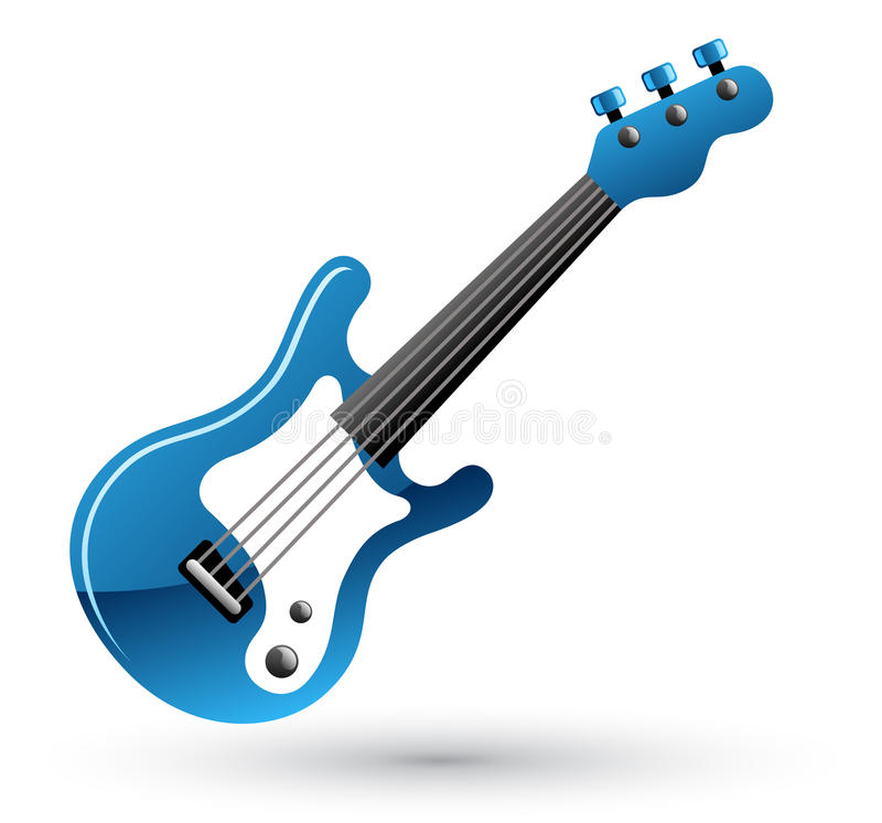 吉他图标 皇族释放例证