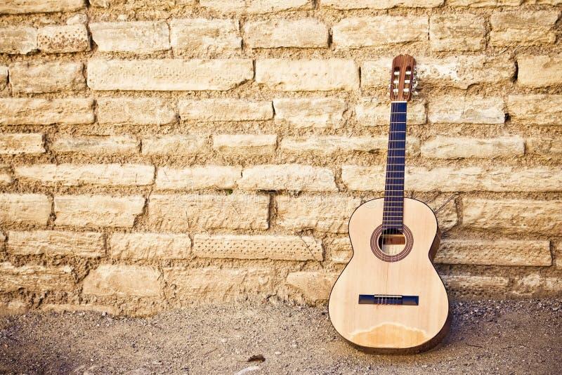 吉他墙壁 库存图片