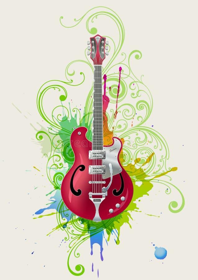 吉他岩石 皇族释放例证
