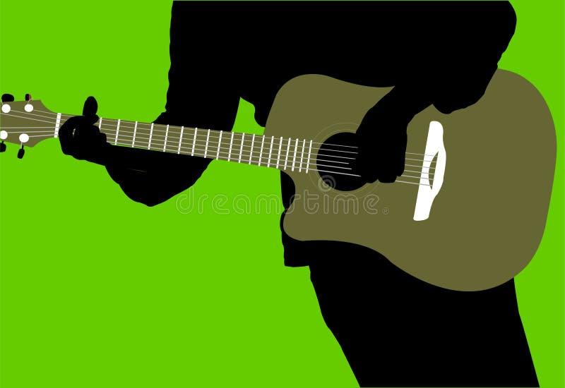 吉他弹奏者 皇族释放例证