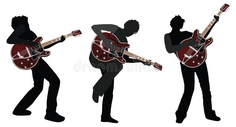 吉他弹奏者 向量例证