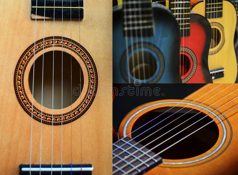 吉他拼贴画 免版税图库摄影