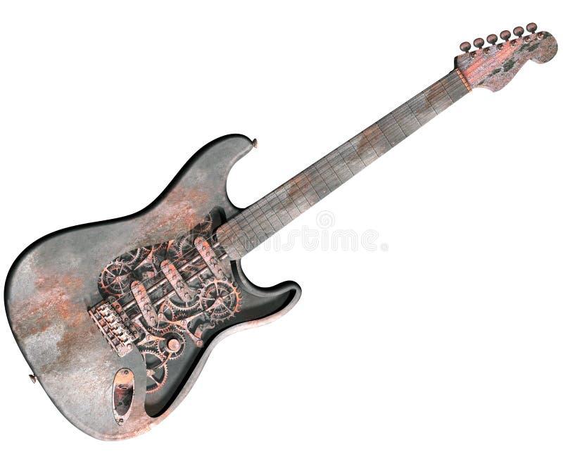 吉他查出的低劣的蒸汽 向量例证