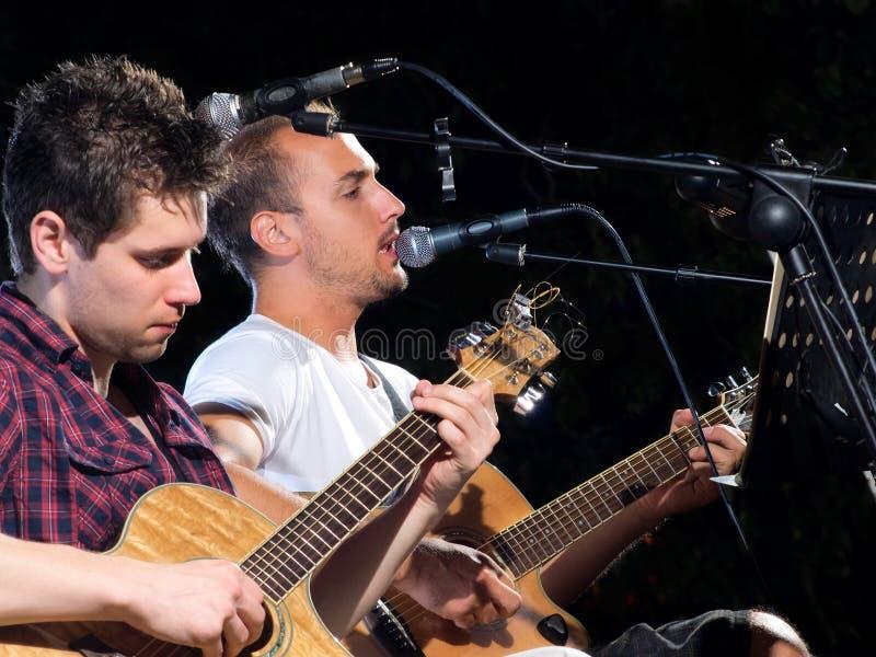 吉他演奏员二 免版税库存图片