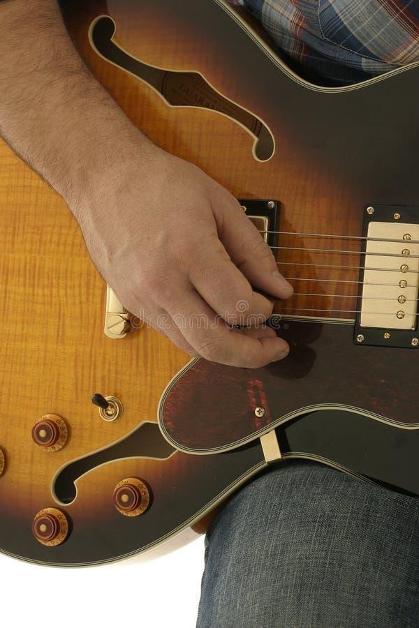 吉他现有量使用 免版税库存图片