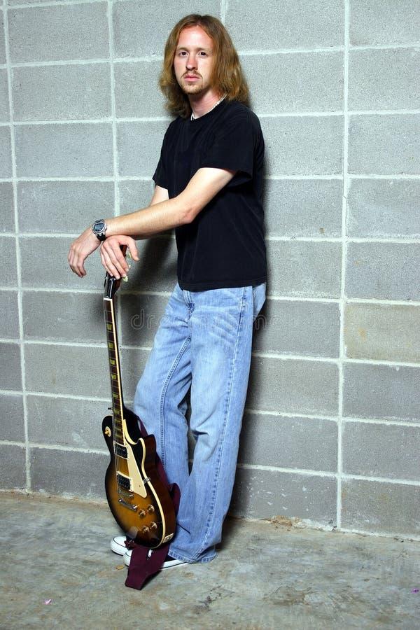 吉他线索球员 图库摄影