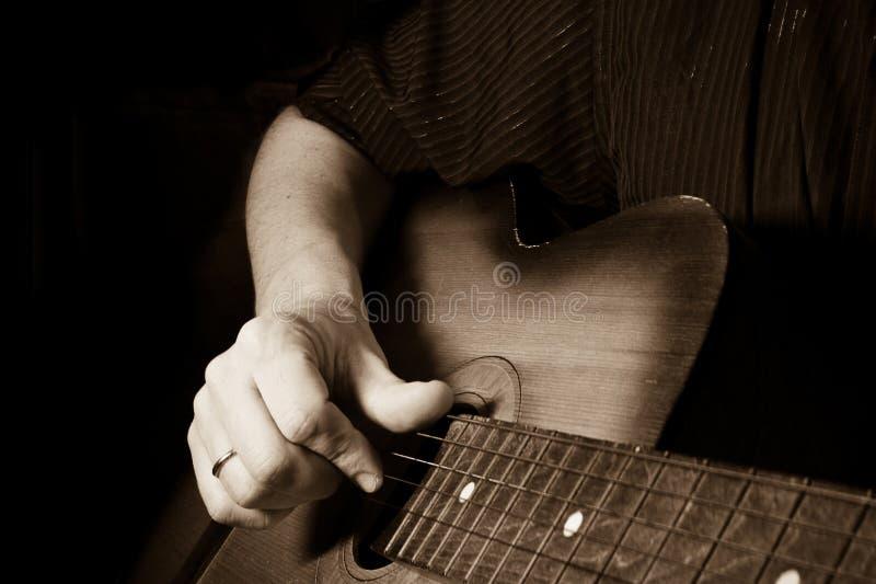 吉他藏品图象人 图库摄影