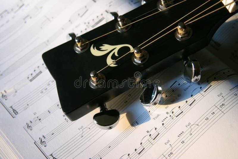 吉他题头 免版税库存照片