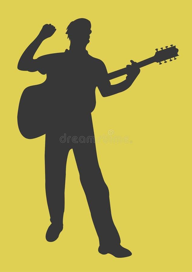 Download 吉他 库存例证. 图片 包括有 仪器, 技艺家, 字符串, 音乐家, 旋律, 音乐会, 剪影, 吉他, 例证 - 300175
