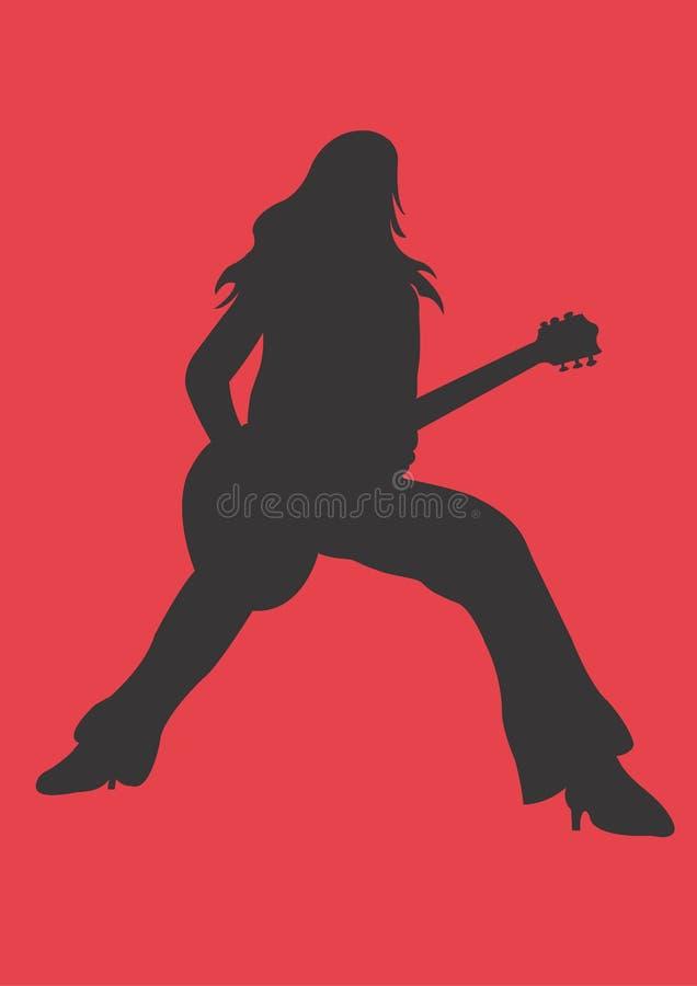 Download 吉他 库存例证. 图片 包括有 女性, 夹子, 音乐会, 音乐, 妇女, 作用, 岩石, 仪器, 剪影, 字符串 - 300388