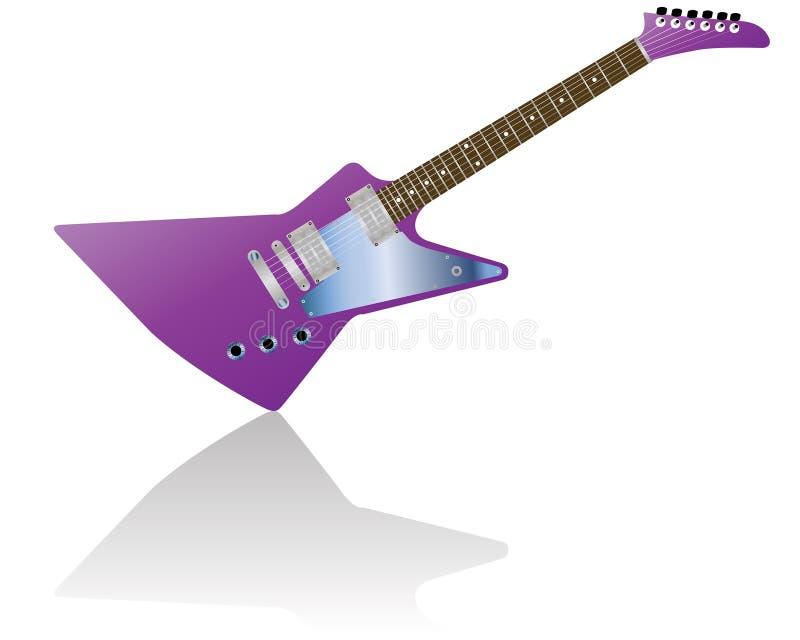 吉他 皇族释放例证