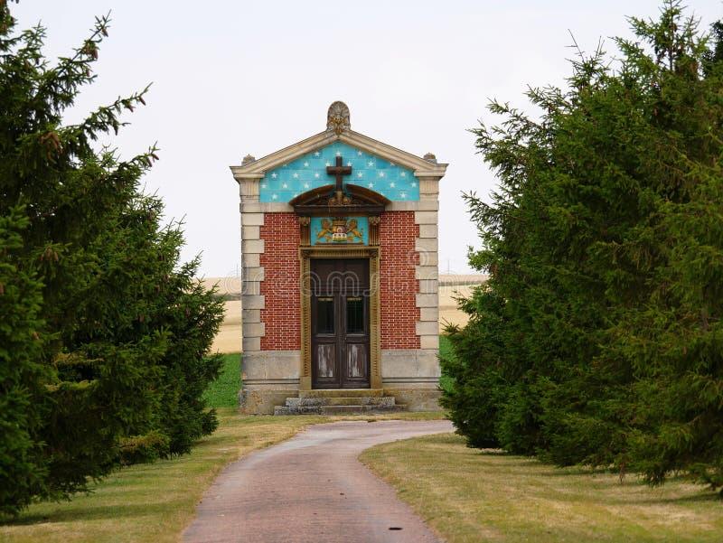 吉内蒂公主教堂Valmy站点的在马恩省 库存照片