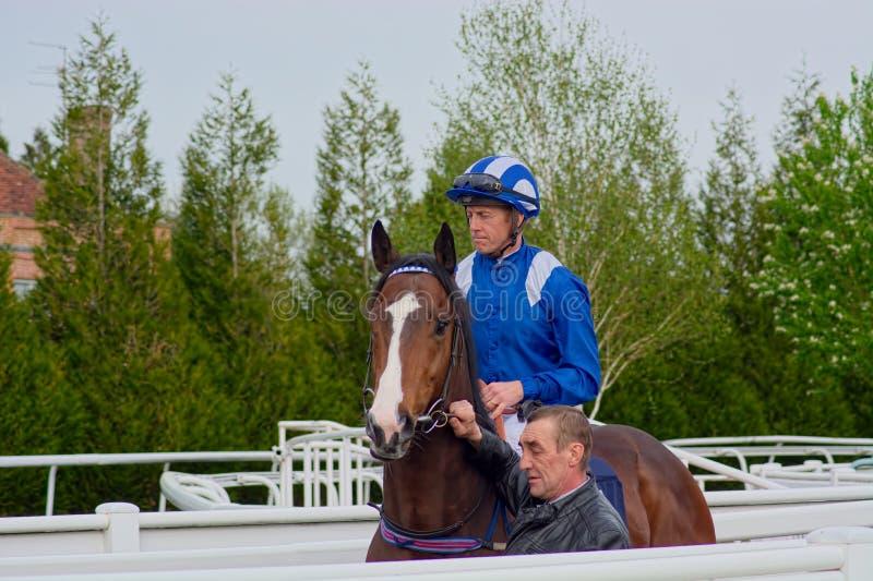 吉姆克劳利,赛马冠军骑师 免版税库存照片